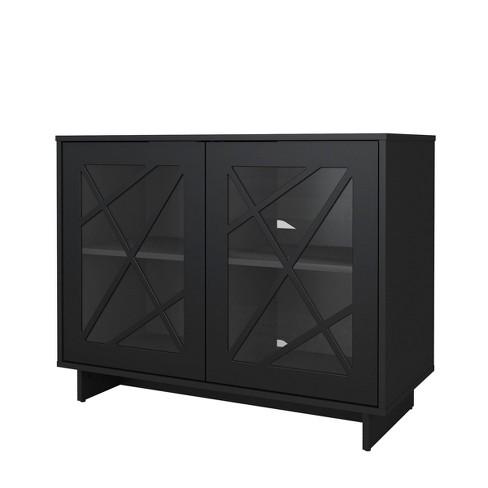 Paragon 2 Door Storage Cabinet Black, Target Storage Cabinets Furniture