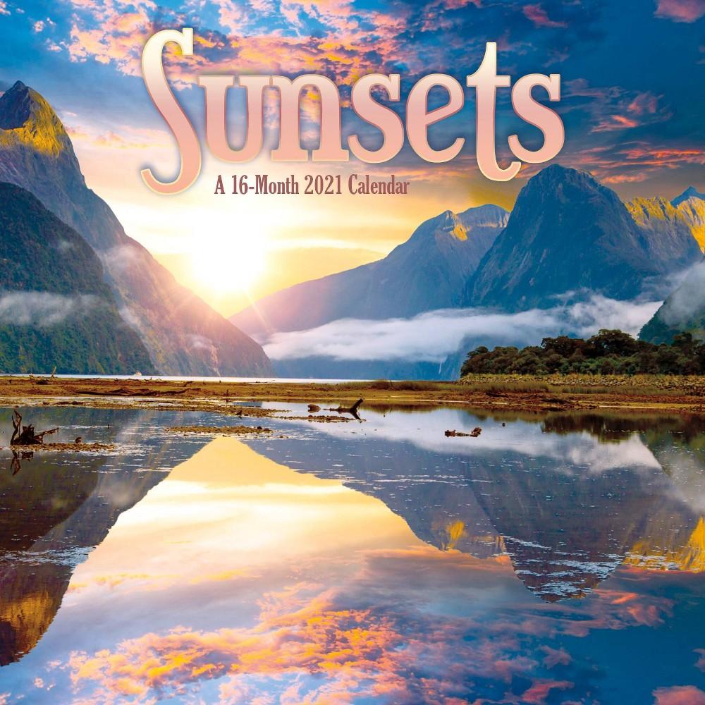 2021 Wall Calendar 12 34 X 12 34 Sunsets Trends International