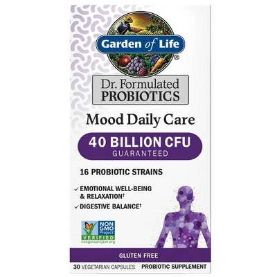 Garden of Life Dr. Formulated Mood Probiotic Capsules - 30ct