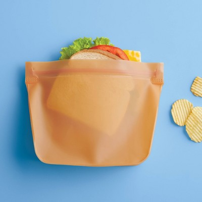 2pk PEVA Reusable Sandwich Bag Sun Orange - Room Essentials™