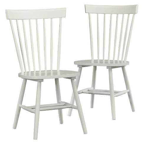 Pleasant Cottage Road Spindle Back Dining Chair Set Of 2 Soft White Sauder Pdpeps Interior Chair Design Pdpepsorg