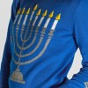 Women's Menorah Light Up Long Sleeve Sweater (Juniors') - Blue - image 3 of 3