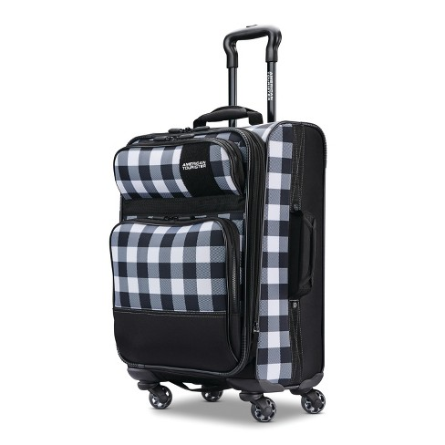 "American Tourister 21"" Kickster Carry On Suitcase - Black/White Plaid - image 1 of 12"