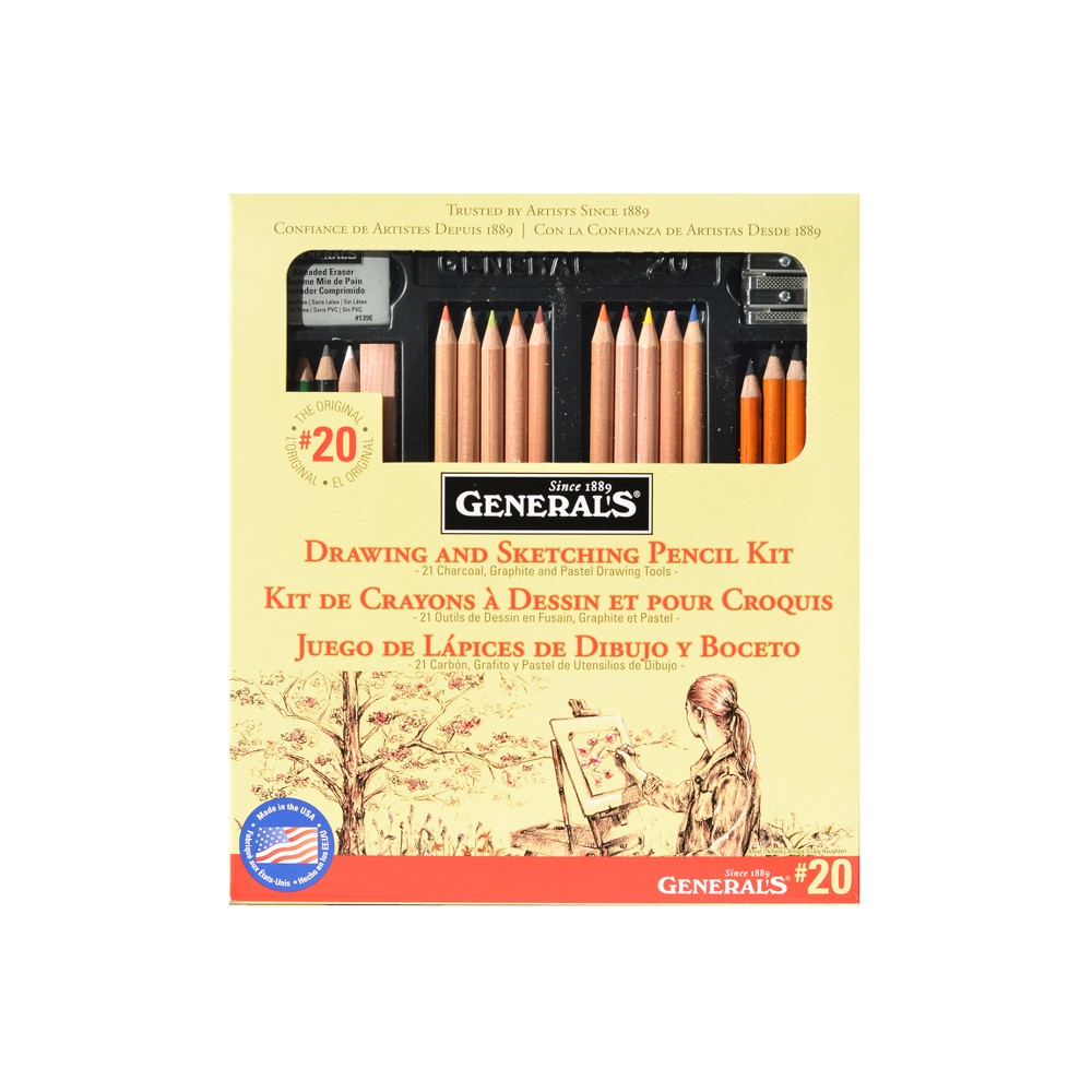 Image of Drawing Pencil Kit #20 22pc - General's