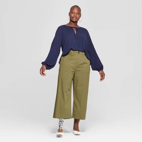 581a2d854d Women s Plus Size Long Sleeve V-Neck Poet Blouse - Ava   Viv™. Shop all Ava    Viv
