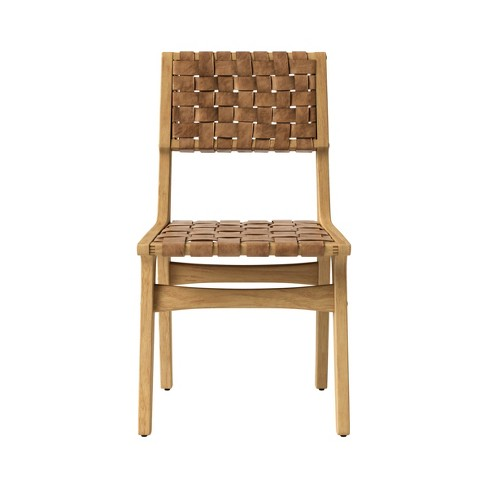 Ceylon Woven and Wood Dining Chair Brown And Natural - Opalhouse™ - image 1 of 5