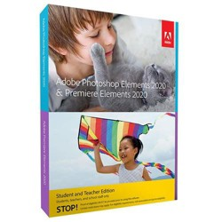 Adobe Photoshop Elements & Premium Elements 2020 Software, Student Plus Teacher Edition, DVD & Download, Mac/Windows