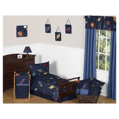 Navy Space Galaxy Bedding Set (Toddler)   Sweet Jojo Designs® : Target