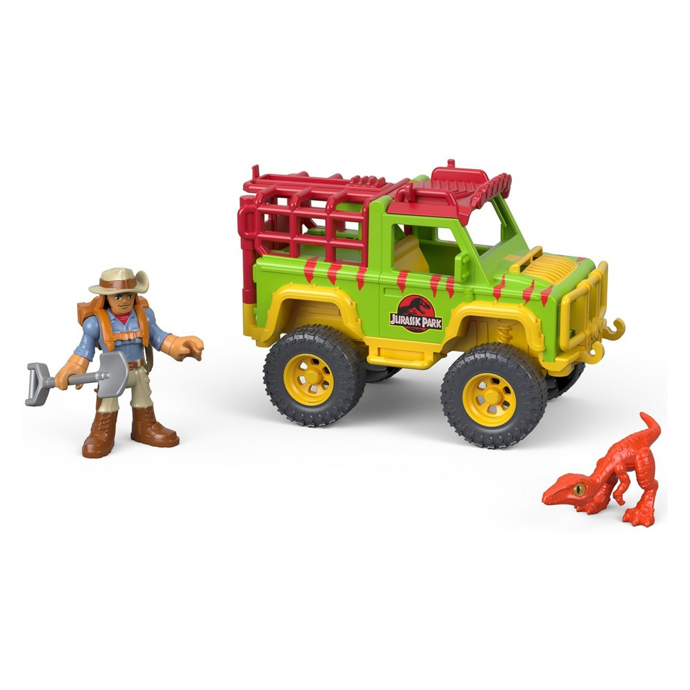 Fisher-Price Imaginext Jurassic World Legacy Dr. Grant & 4x4 Vehicle Pack