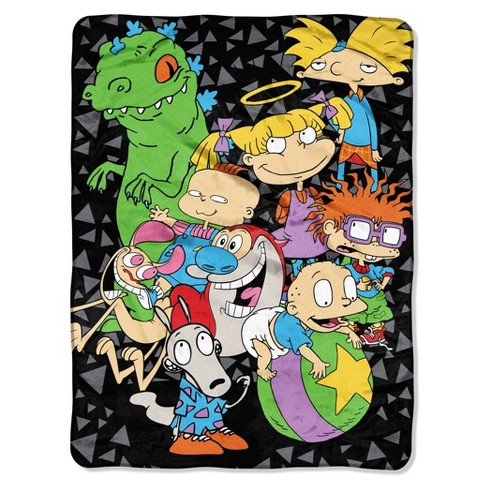"Nickelodeon Rewind The Spin Room Micro Raschel Throw (46""x60"") - The Northwest Company - image 1 of 1"