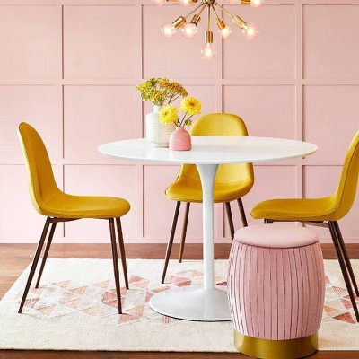 Our Statement Yellow Pink Dining Room Furniture Collection