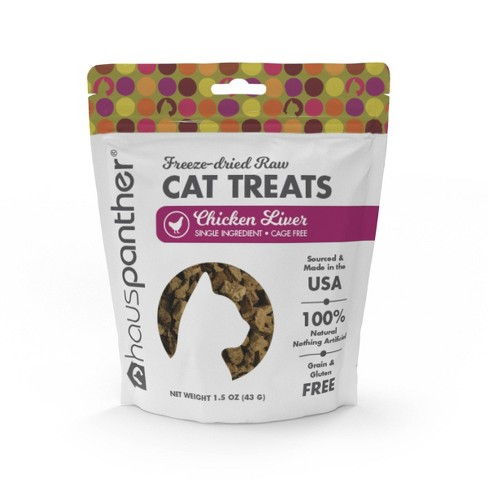 Hauspanther Freeze Dried Chicken Liver Cat Treats - 1.5oz - image 1 of 4