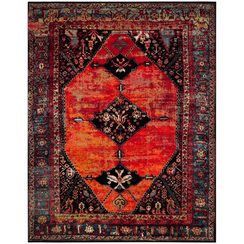 "Image of ""10'6""""X14' Loomed Medallion Area Rug Orange - Safavieh"""