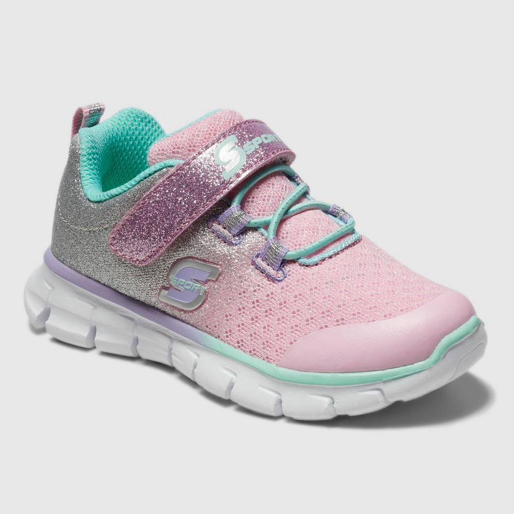 Toddler Girls' S Sport By Skechers Bethanie Jogger Sneakers - Pink 5, Silver Pink White