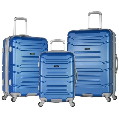 Olympia USA Denmark 3pc Luggage Set - Navy