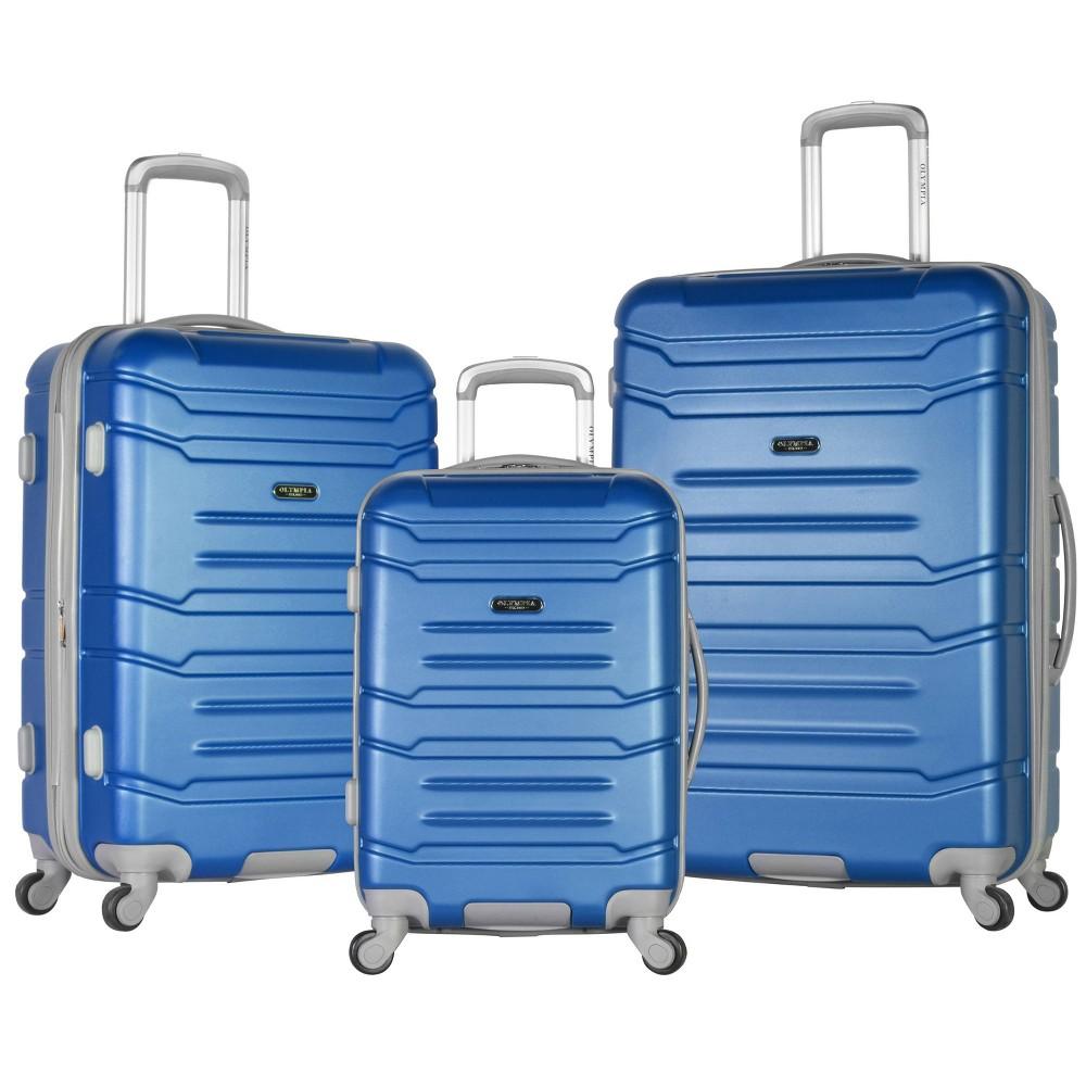 Image of Olympia USA Denmark 3pc Luggage Set - Navy, Blue