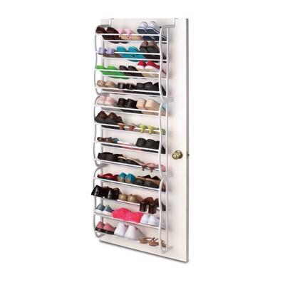 Home Basics 36 Pair Shoe Rack, White