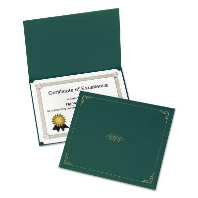 Oxford Certificate Holder 11 1/4 x 8 3/4 Green 5/Pack 29900605BGD