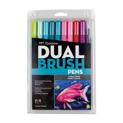 Tombow 10ct Dual Brush Pen Art Markers - Tropical