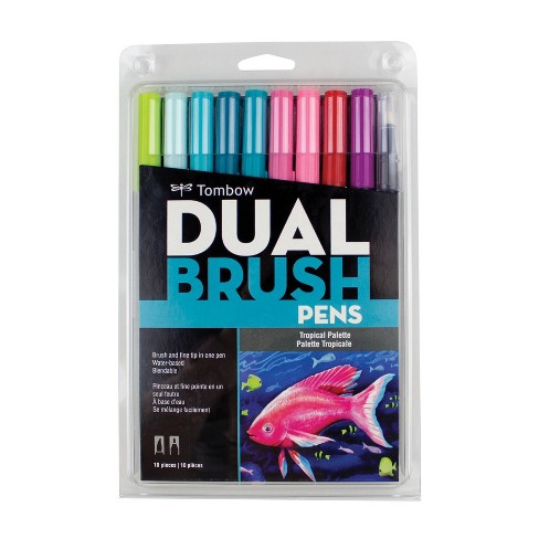 Tombow 10ct Dual Brush Pen Art Markers - Tropical - image 1 of 4