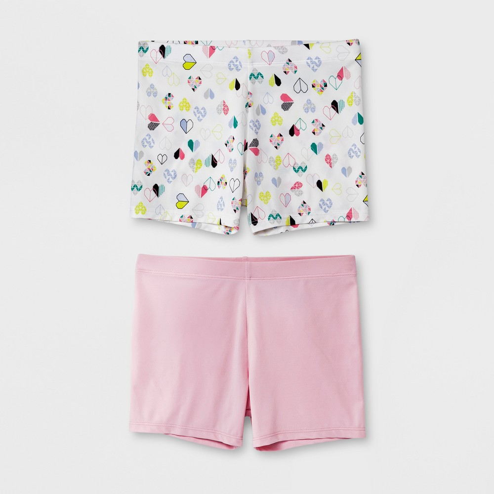 Girls' 2pk Boy Shorts - Cat & Jack Pink S