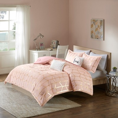 Blush Arielle Brushed Comforter Set (Full/Queen)5pc