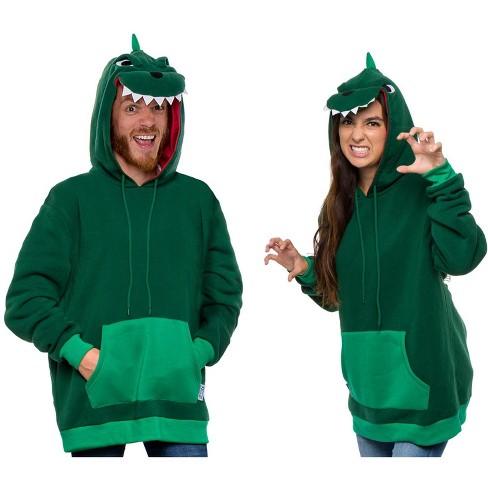 Funziez! Dinosaur Adult Unisex Hooded Sweatshirt - image 1 of 4