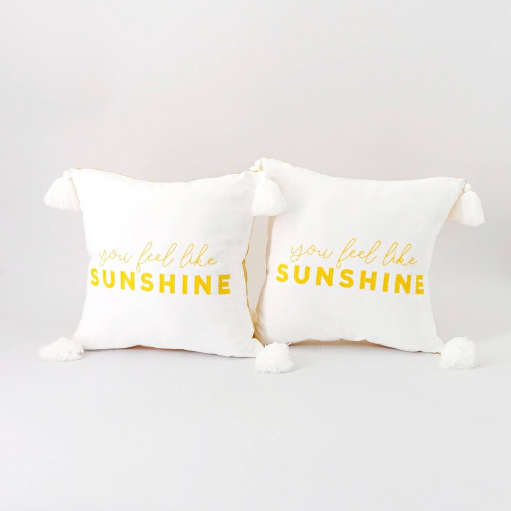 2ct Sunshine Pillow Bullseye 39 S Playground 8482