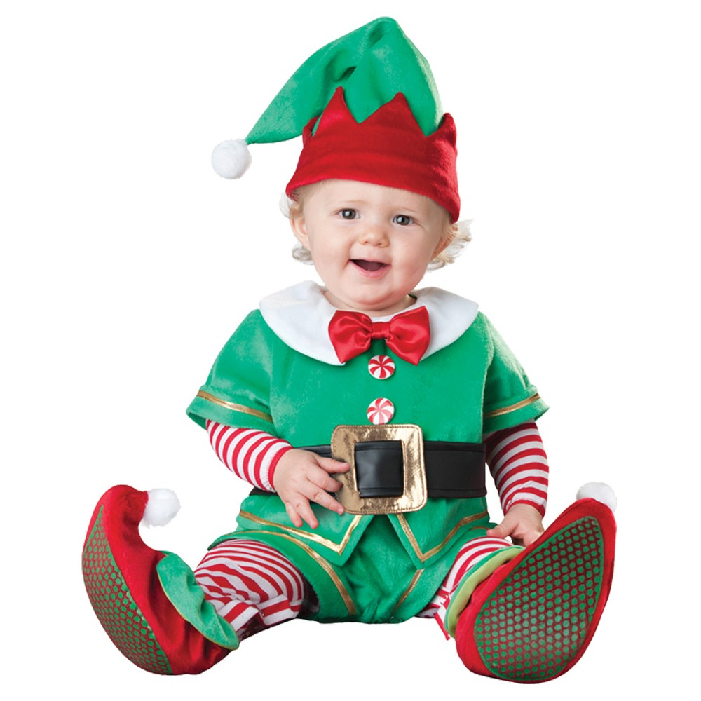 Image of Halloween Toddler Santas Lil Elf Costume 18-2t, Adult Unisex, Size: 18-24M, MultiColored