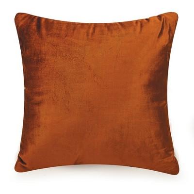 Velvet Decorative Throw Pillow Orange - Ayesha Curry