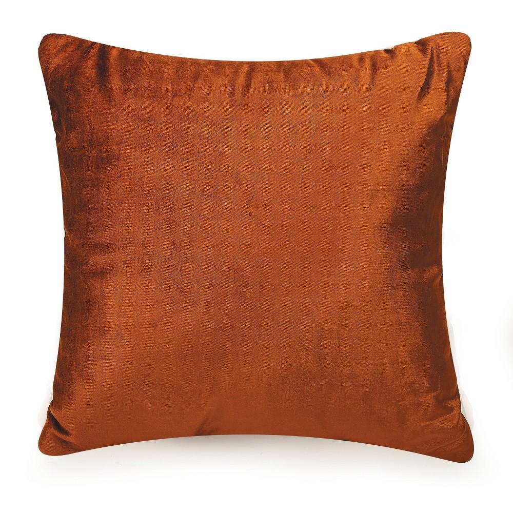 Image of Velvet Decorative Throw Pillow Orange - Ayesha Curry