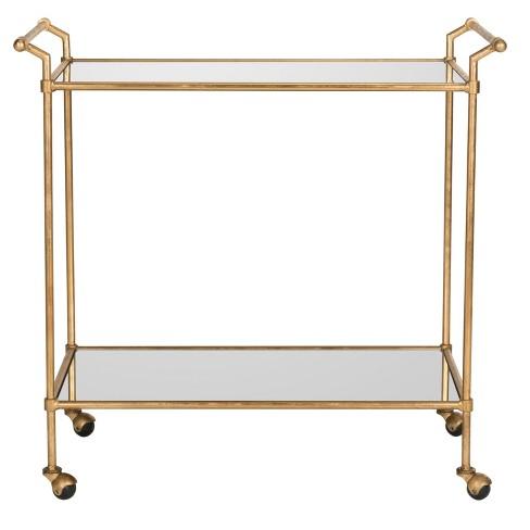 Bar Cart Metal Gold Safavieh