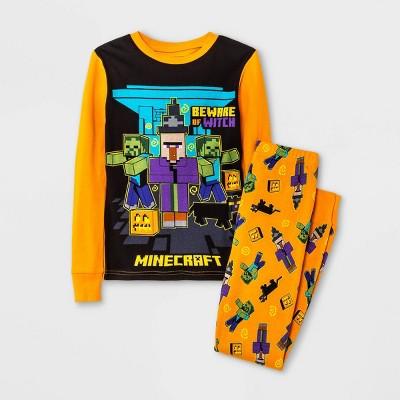 Boys' Minecraft Halloween 2pc Pajama Set - Orange