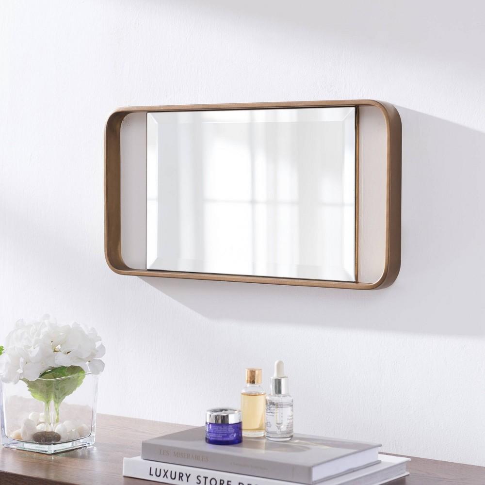 "Image of ""20"""" Eshire Decorative Mirror Gold - Aiden Lane"""