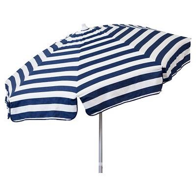 Parasol Italian 6' Umbrella Acrylic Stripes - Navy and White