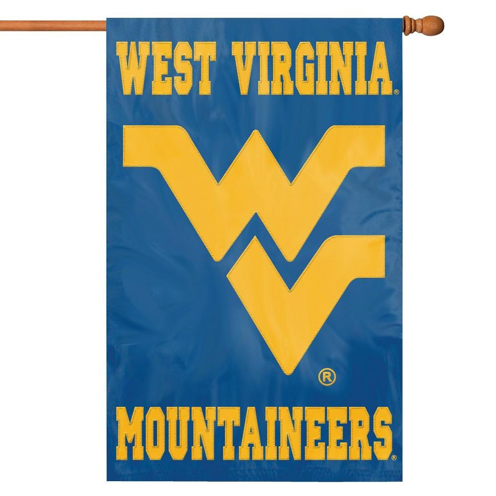NCAA Team Applique Banner Flag - West Virginia Mountaineers