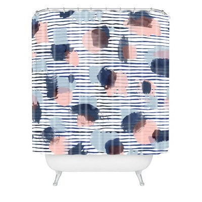 Graphic Thoughts Blue Shower Curtain Blue - Deny Designs