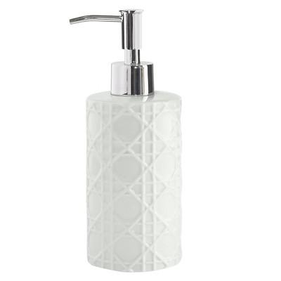 Wicker Lotion Dispenser White - Cassadecor