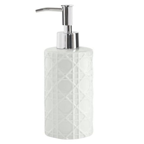 Wicker Lotion Dispenser White - Cassadecor - image 1 of 4