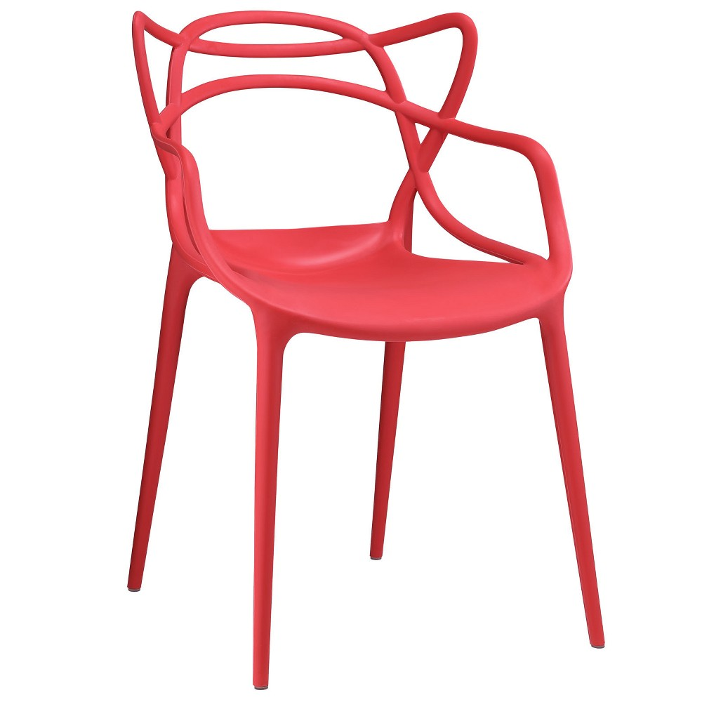 Image of Entangled Dining Armchair Red - Modway