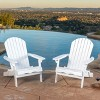 Hayle 2pk Wood Reclining Adirondack Chair with Footrest - Christopher Knight Home - image 2 of 4