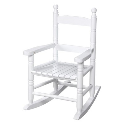 Gift Mark Slat Rocking Chair - White