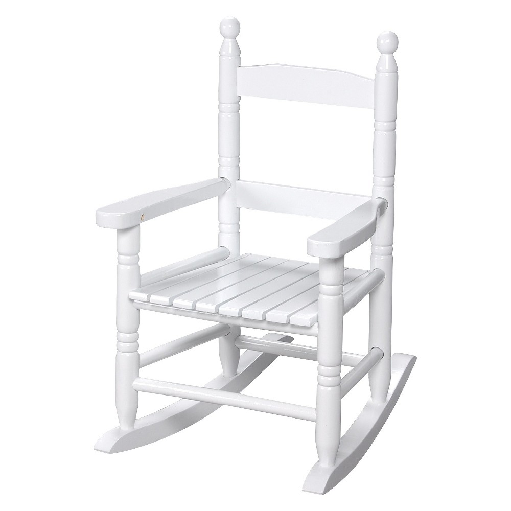 Image of Gift Mark Slat Rocking Chair - White