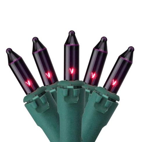 Vickerman 150ct Mini Heavy Duty String Lights Purple - 49.2' Green Wire - image 1 of 2