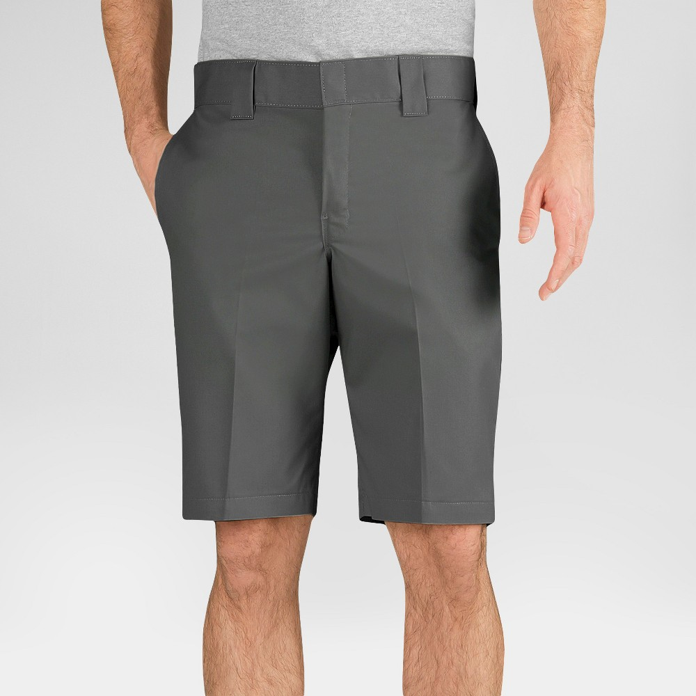Dickies Men's Slim Fit Flex Twill 11 Shorts- Gravel Gray 29