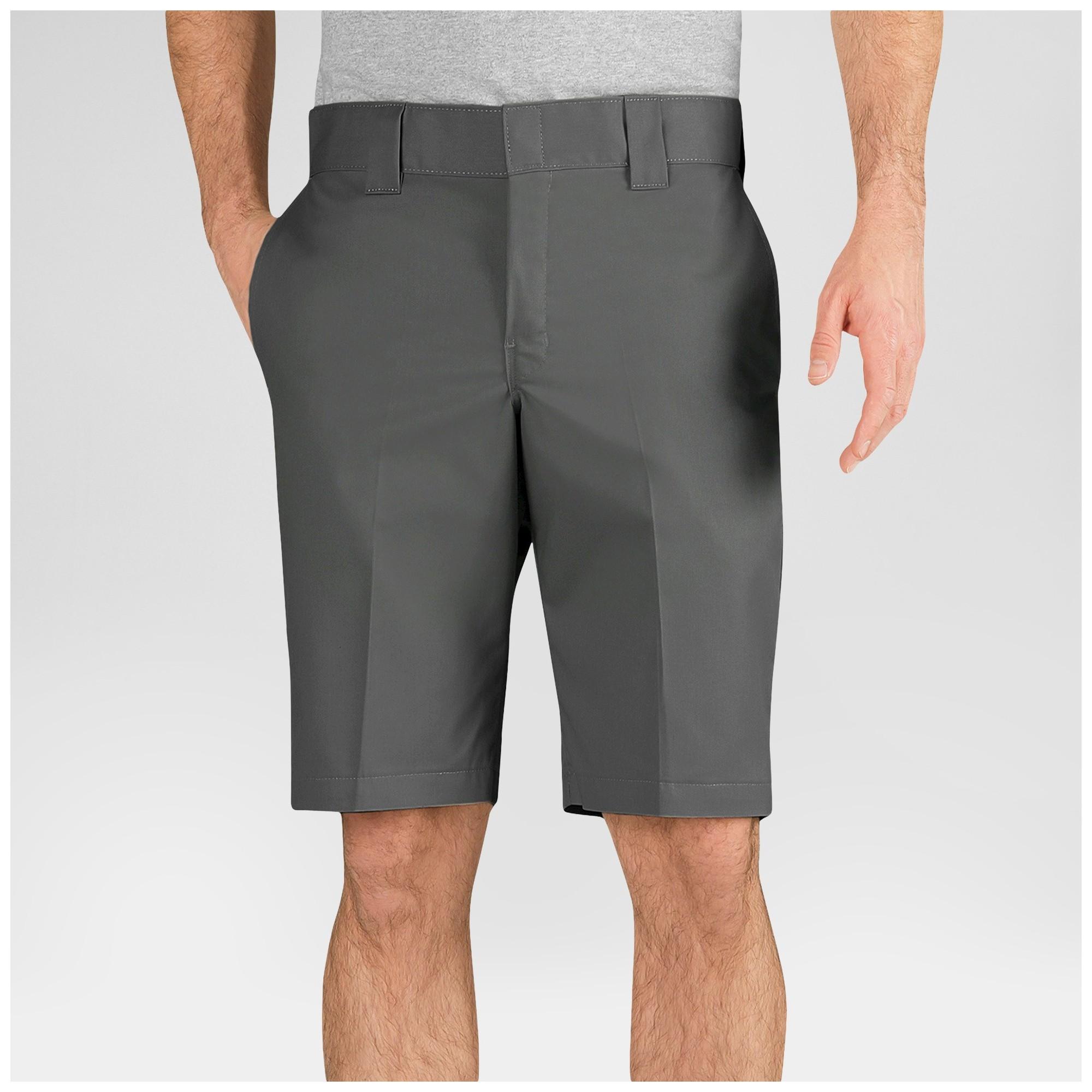 Dickies Men's Slim Fit Flex Twill 11 Shorts- Gravel Gray 26