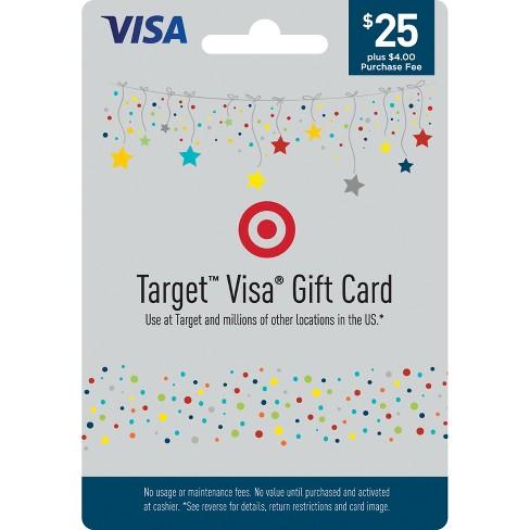 Visa Gift Card 25 4 Fee Target