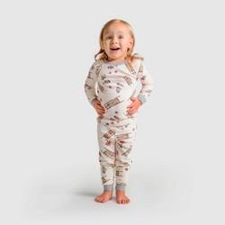 Burt's Bees Baby® Toddler Sleigh Ride Organic Cotton Pajama Set - Off White