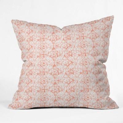 "16""x16"" Little Arrrow Design Co Modern Moroccan in Odessa Throw Pillow Pink - Deny Designs"