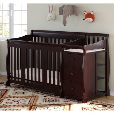 Storkcraft Portofino 4-in-1 Convertible Crib and Changer - Espresso